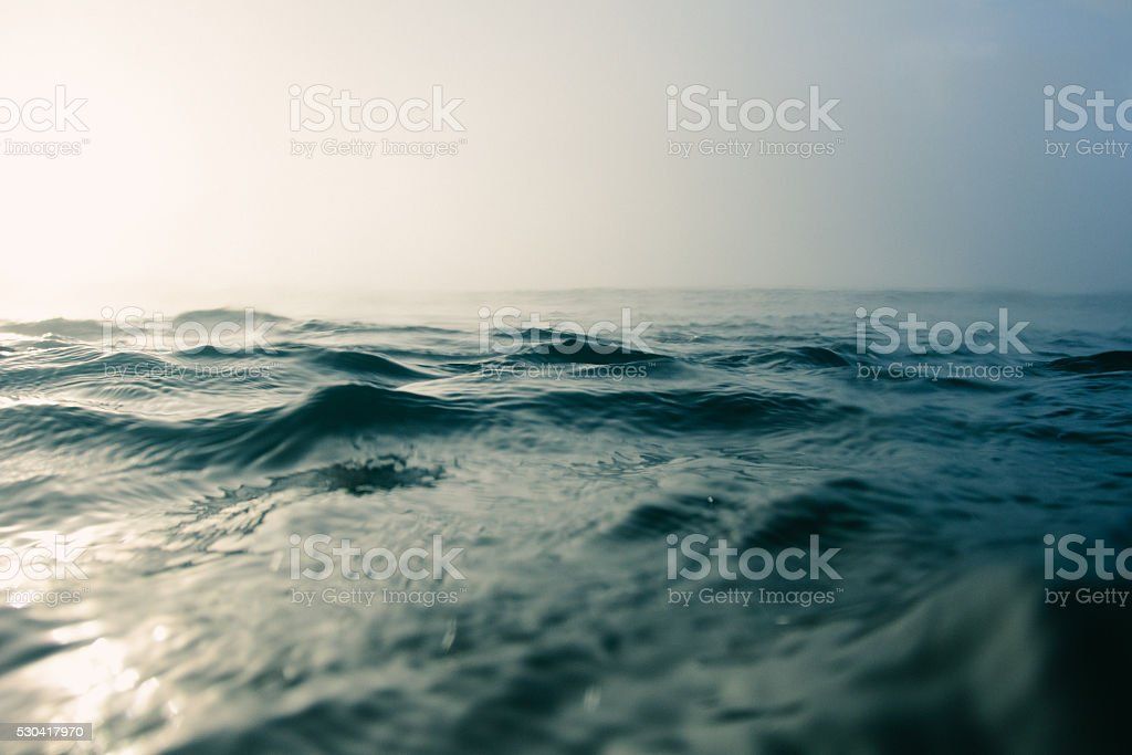 Blue ocean macro stock photo