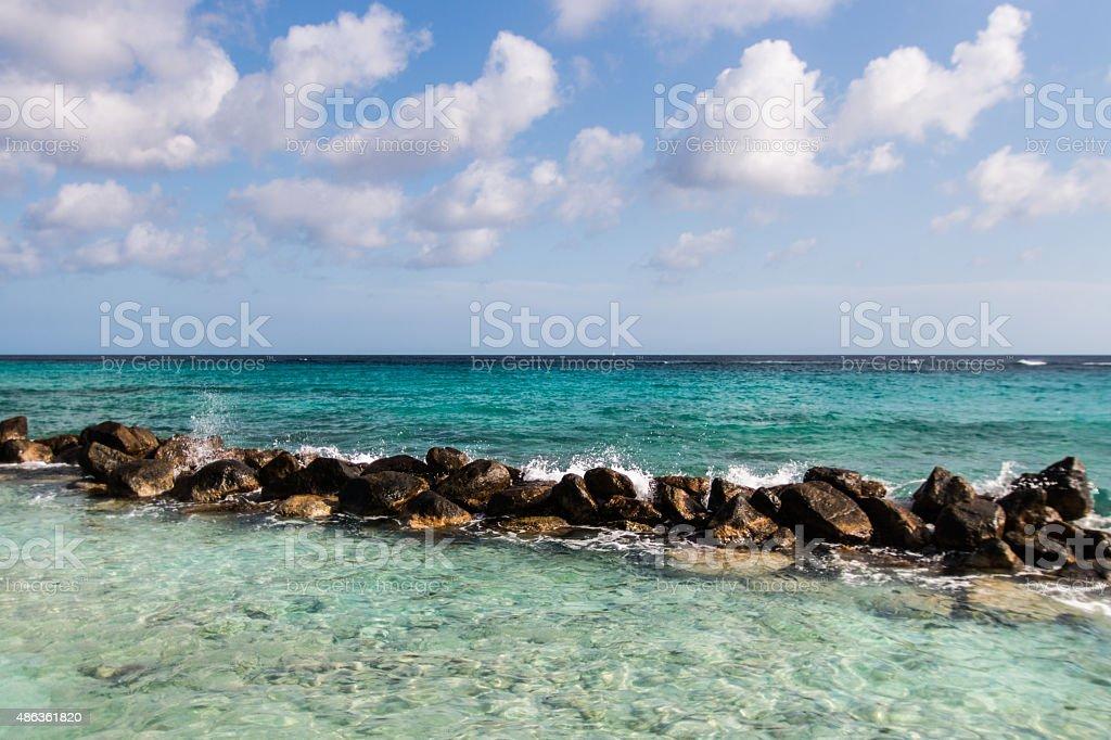 blue Ocean rocks stock photo