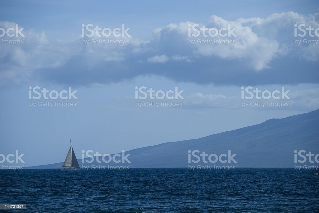 Blue Ocean Sail stock photo