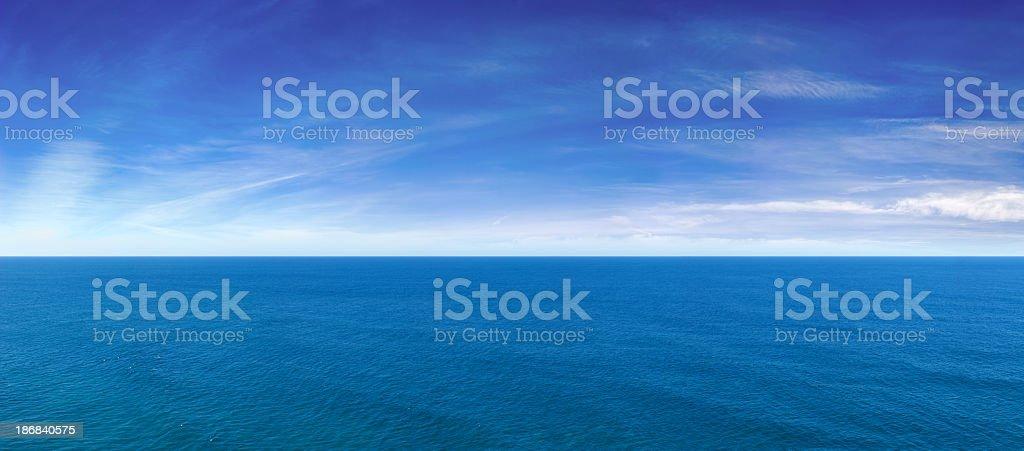 Blue Ocean View Panorama stock photo
