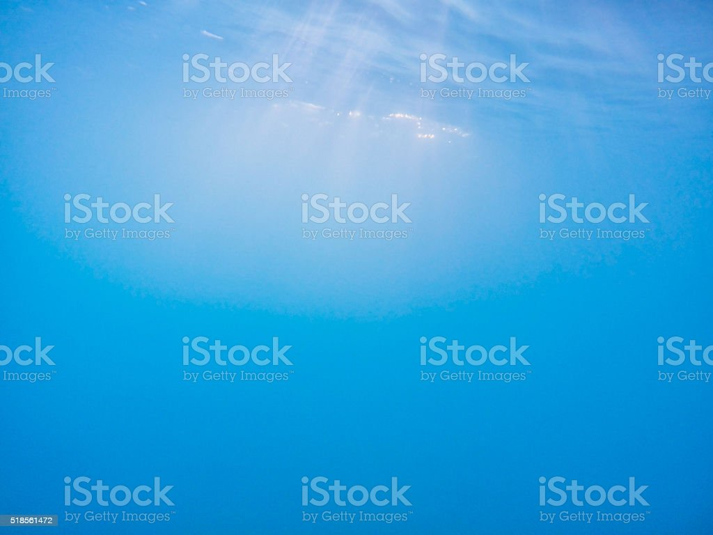 Blue ocean water background stock photo