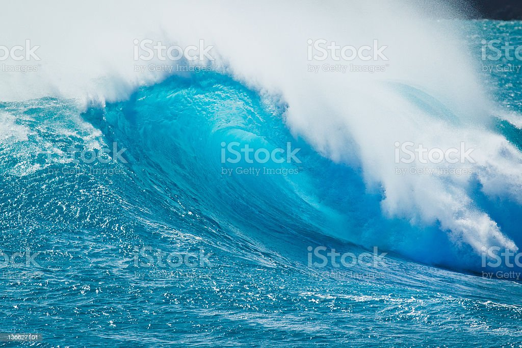 Blue Ocean Wave royalty-free stock photo