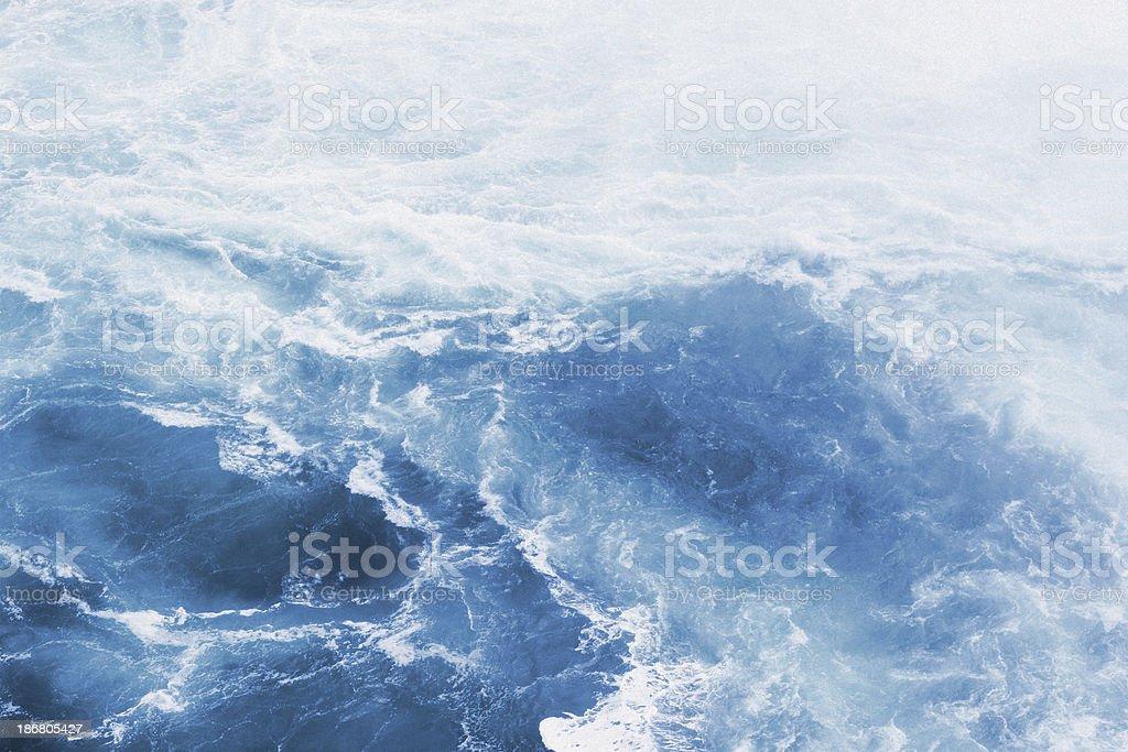 Blue Ocean Waves - Background Wallpaper stock photo
