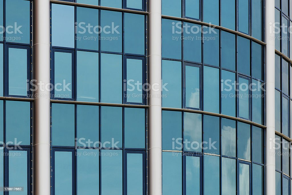 Blue office building windows royalty-free stock photo