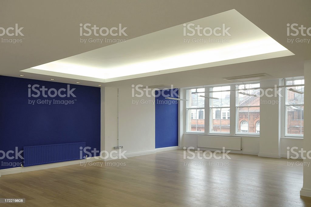 Blue Office Space royalty-free stock photo