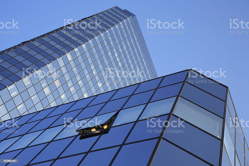 Blue Office Tower royalty-free stock photo