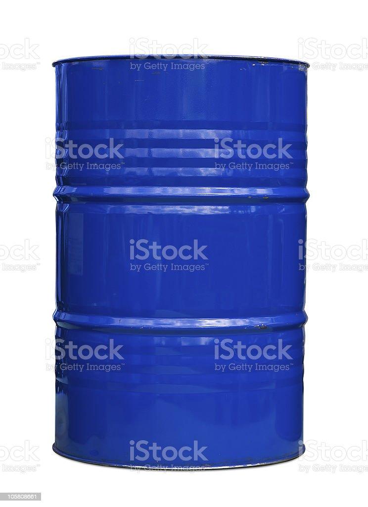 Blue oil barrel royalty-free stock photo