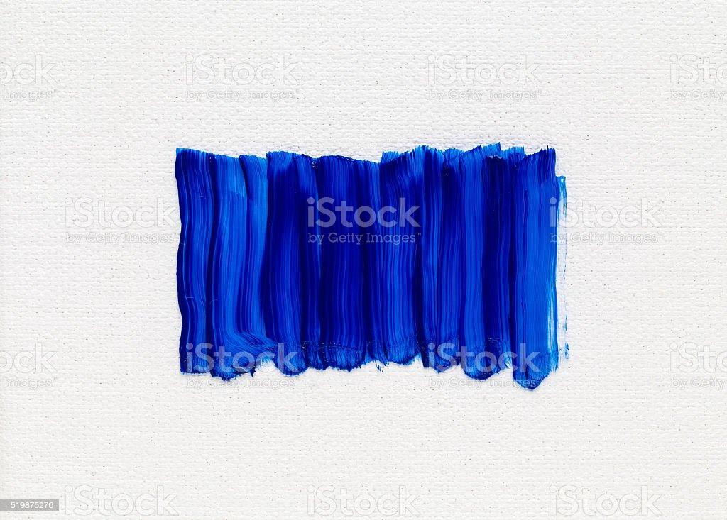 Blue oil paint stock photo