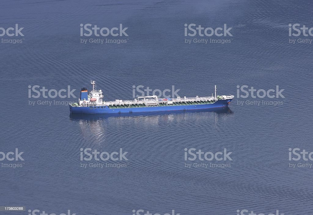 Blue Oil Tanker royalty-free stock photo