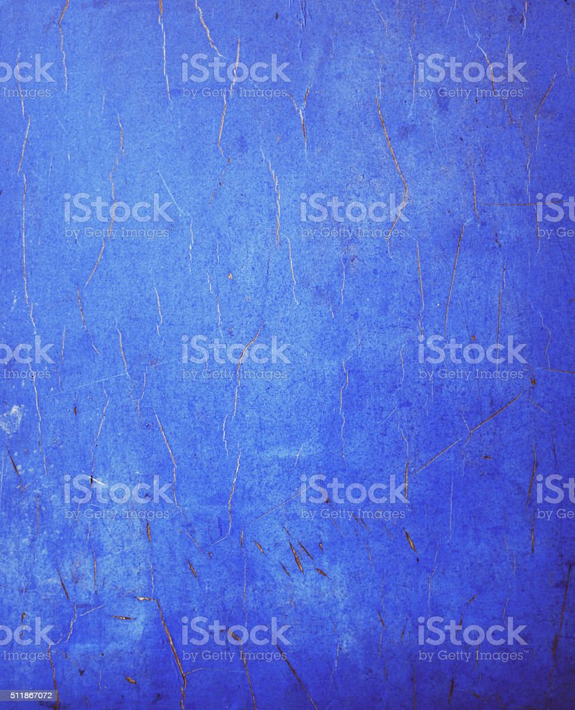 Blue old dirty wall stock photo