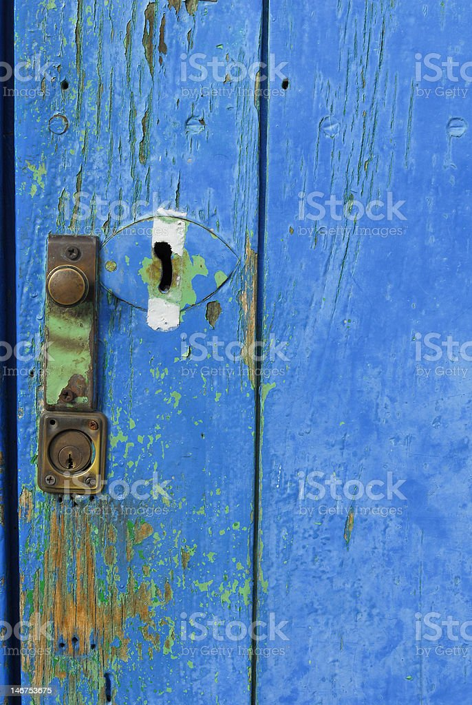 blue old door royalty-free stock photo