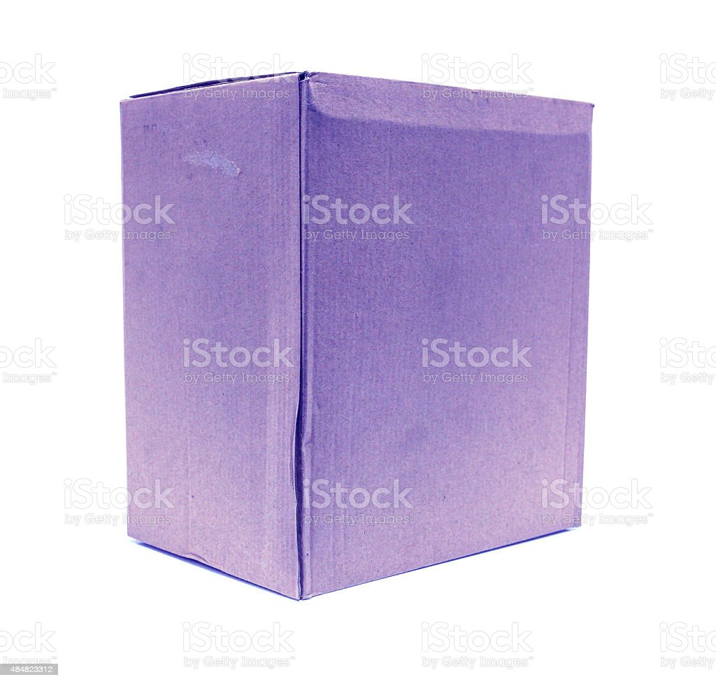 Blue Old packaging cardboard royalty-free stock photo