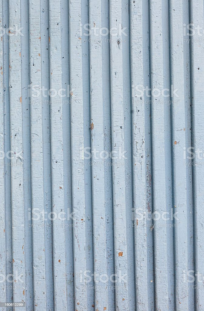 blue old painted wooden fence, naturally weathered royalty-free stock photo