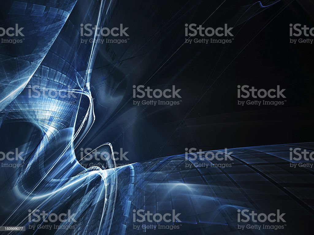 Blue on black abstract background element royalty-free stock photo