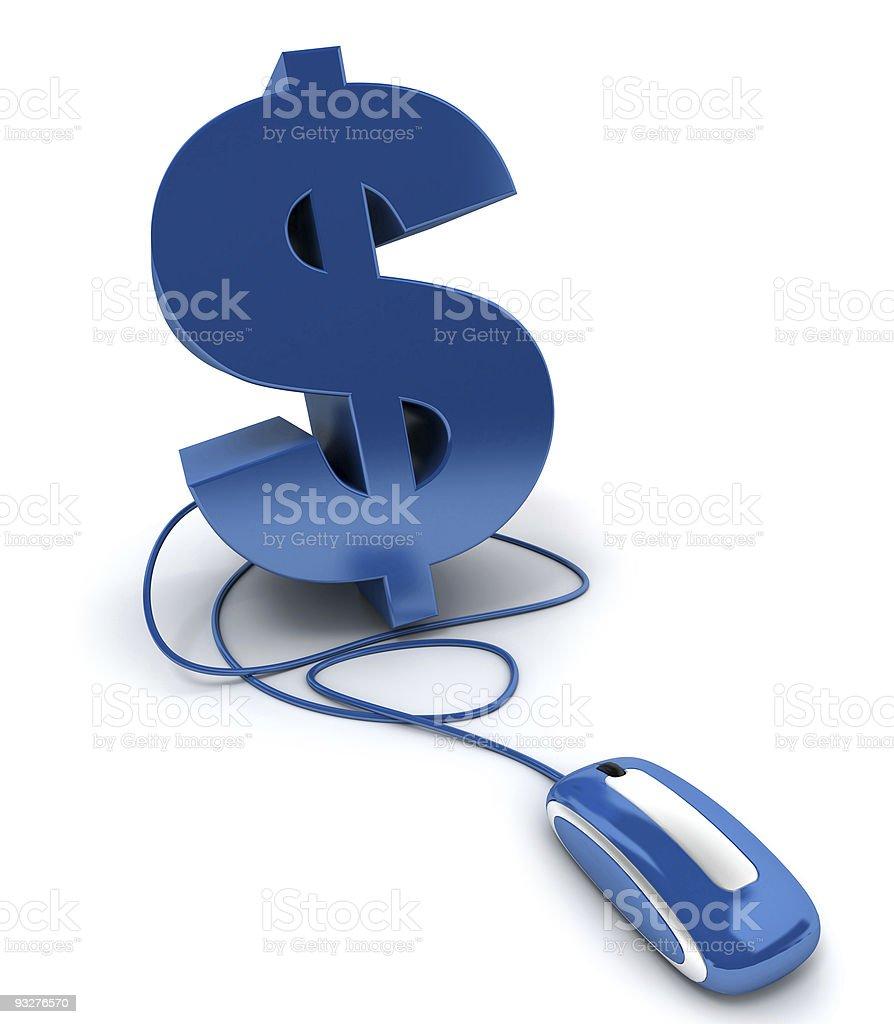Blue online money royalty-free stock photo