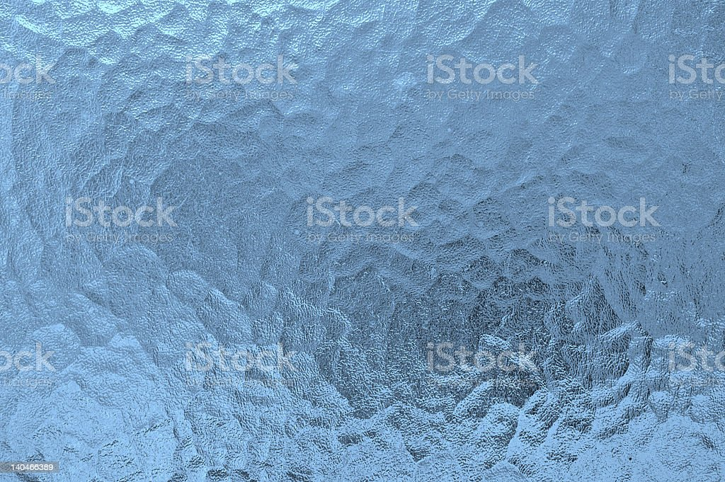 Blue opaque frosted glass background stock photo