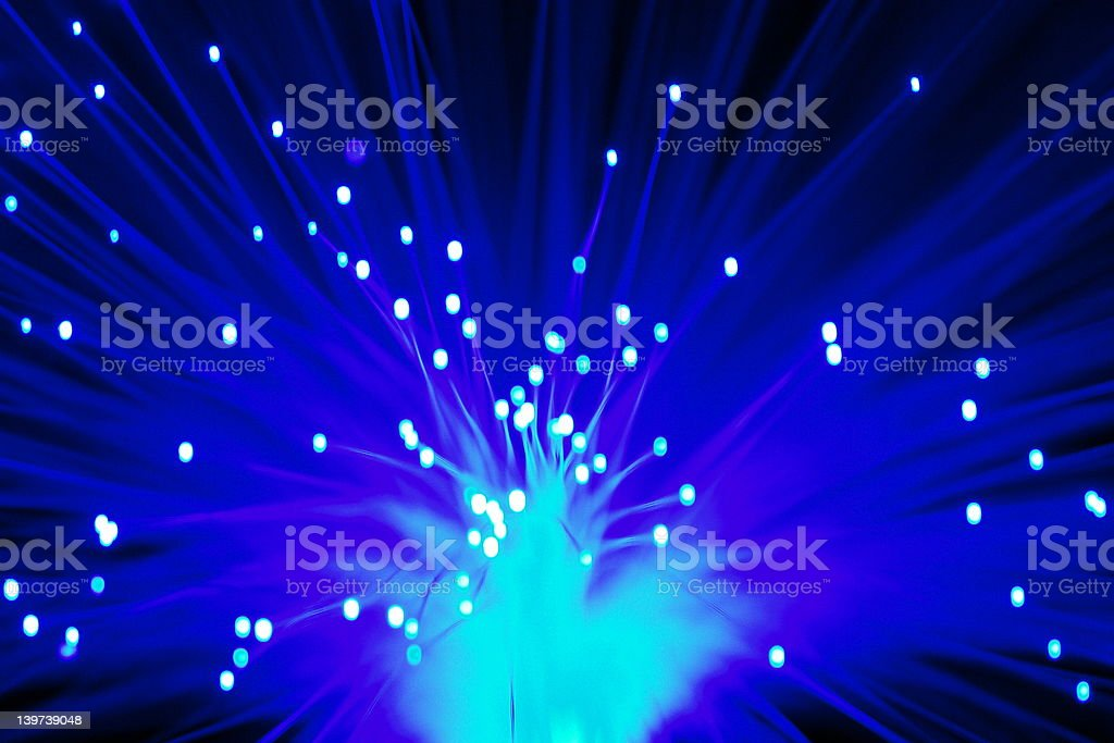 Blue Optic Explosion royalty-free stock photo