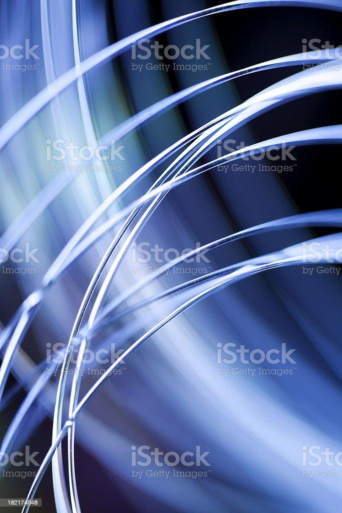 Blue optical fibers royalty-free stock photo