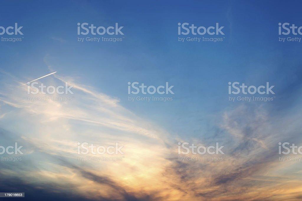 blue, orange and white royalty-free stock photo
