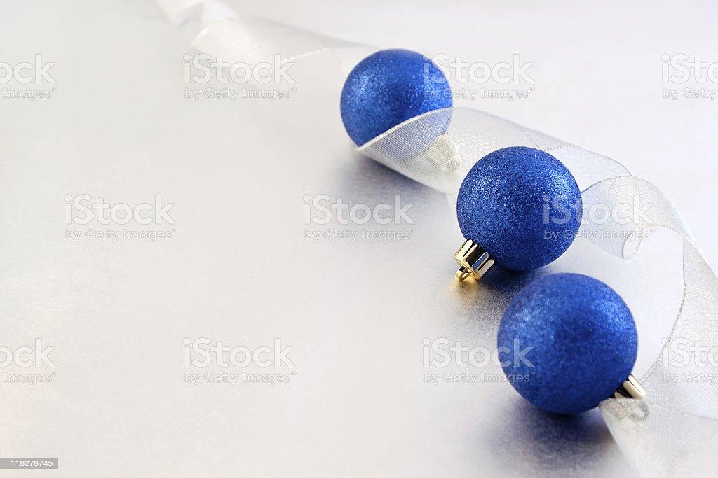 Blue Ornaments stock photo