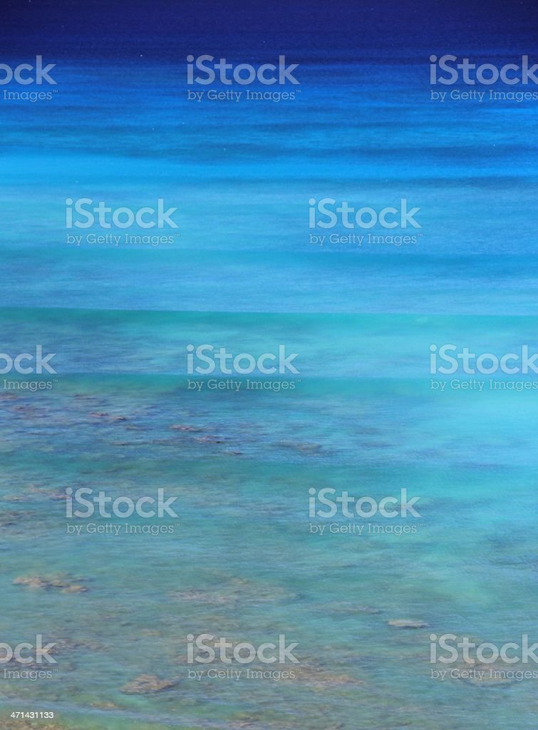 Blue Pacific ocean scenic from Oahu Hawaii resort hotel royalty-free stock photo