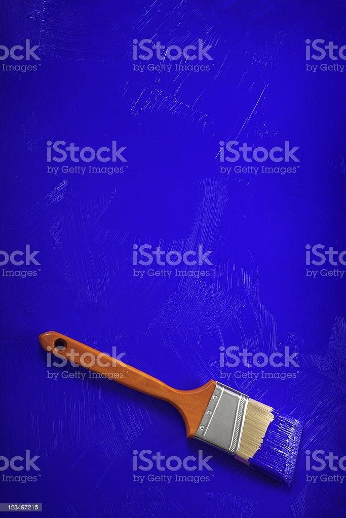 Blue Paint Brush stock photo