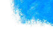 Blue paint on a white background