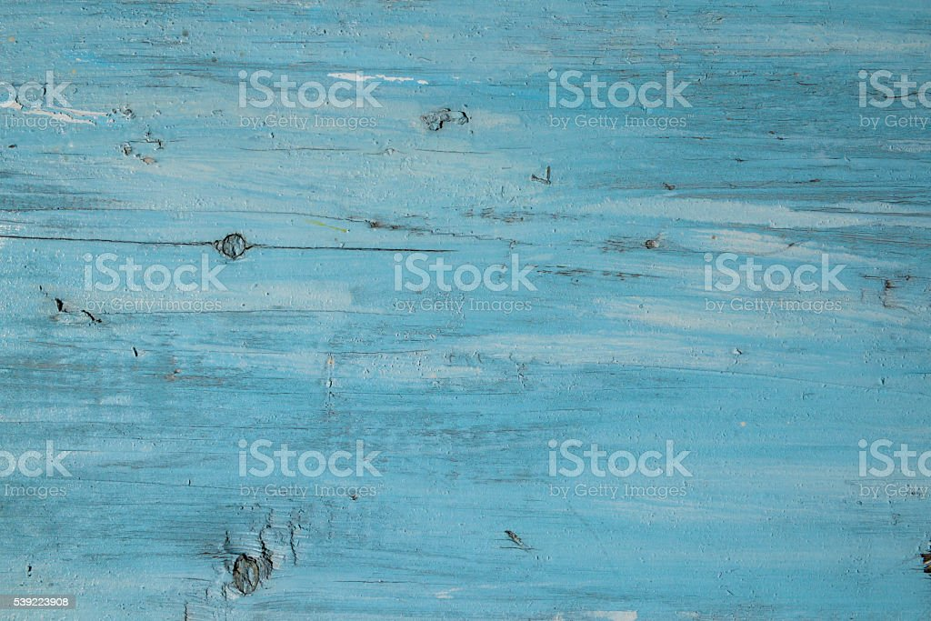 Blue paint on a wooden board use for background stock photo