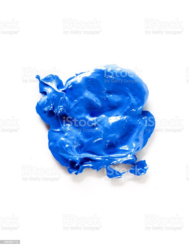 blue paint royalty-free stock photo