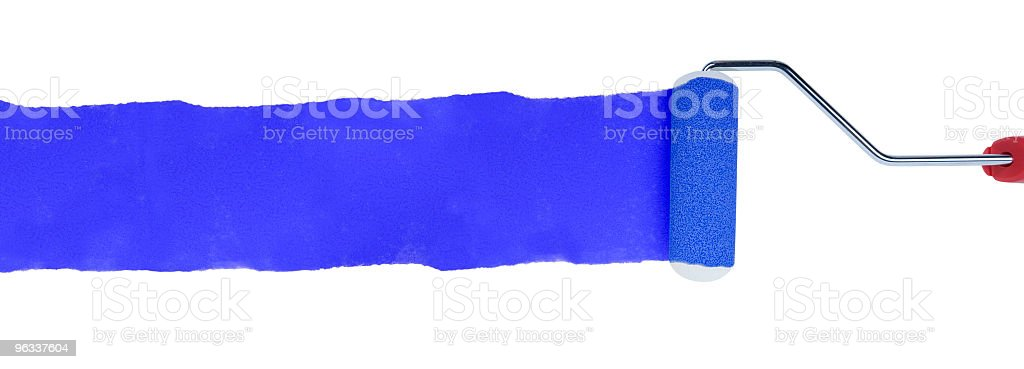 XXL Blue Paint Roller royalty-free stock photo