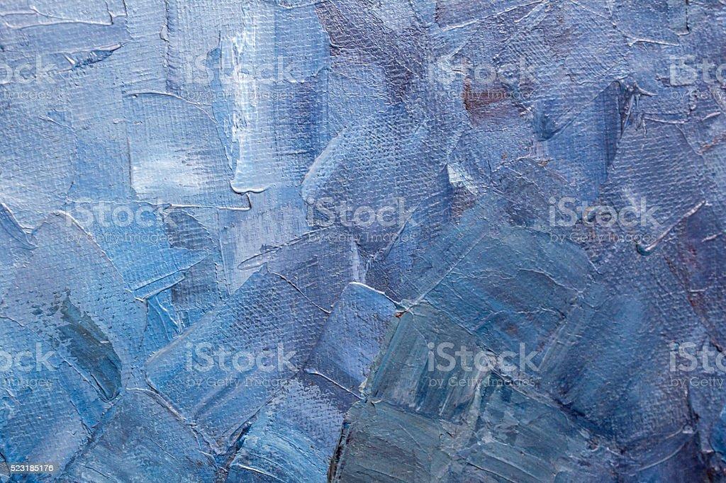 Blue paint texture on a canvas stock photo