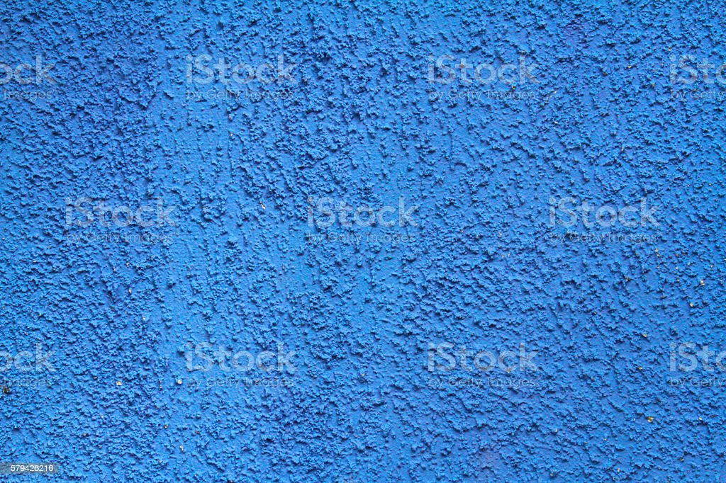 Blue painted brick wall as background, texture stock photo
