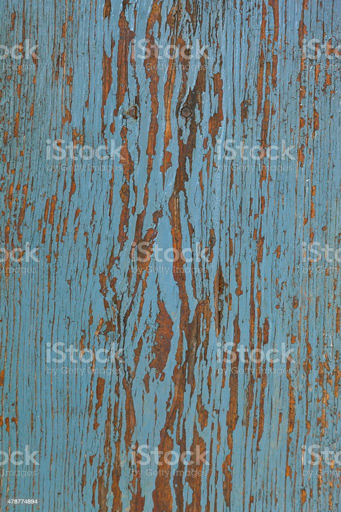 blue painted old wood stock photo