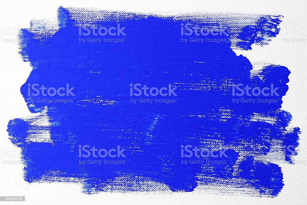 Blue painted on canvas royalty-free stock photo