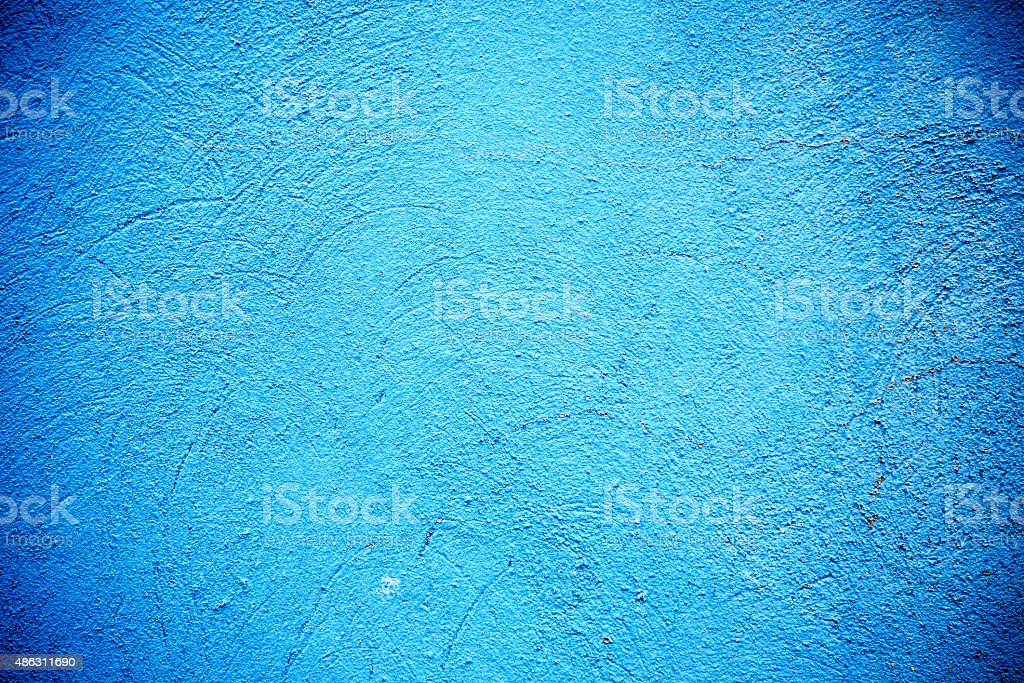 Blue Painted Wall Background stock photo