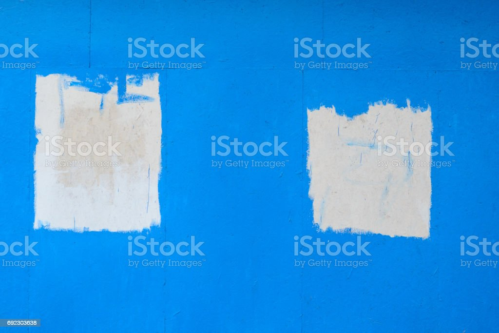 Blue painted wooden texture stock photo