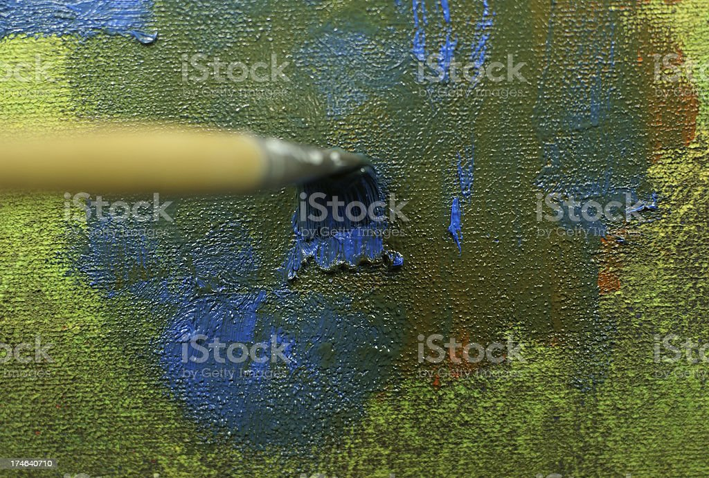 blue painting royalty-free stock photo