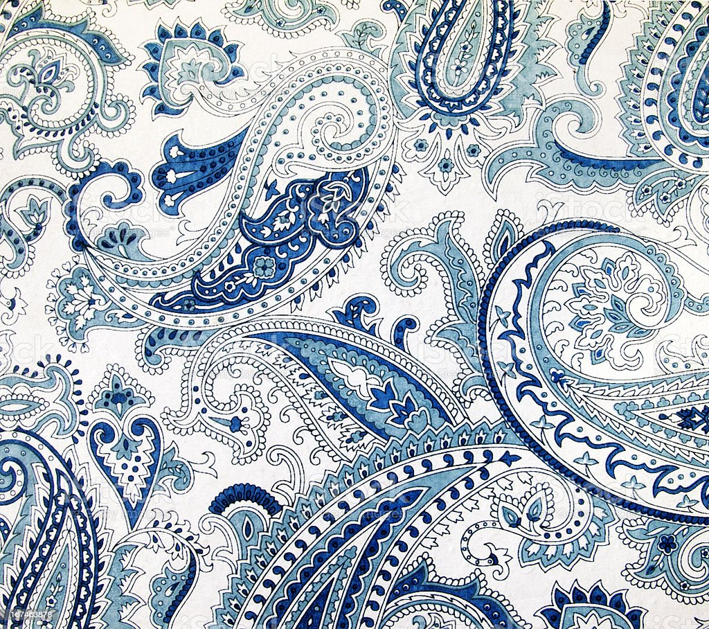 Blue Paisley stock photo