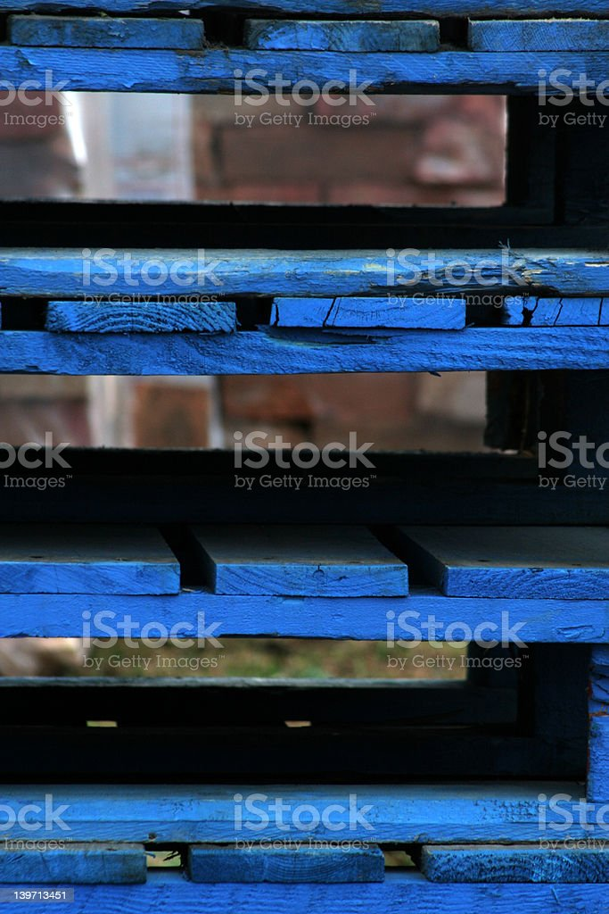 Blue pallets royalty-free stock photo