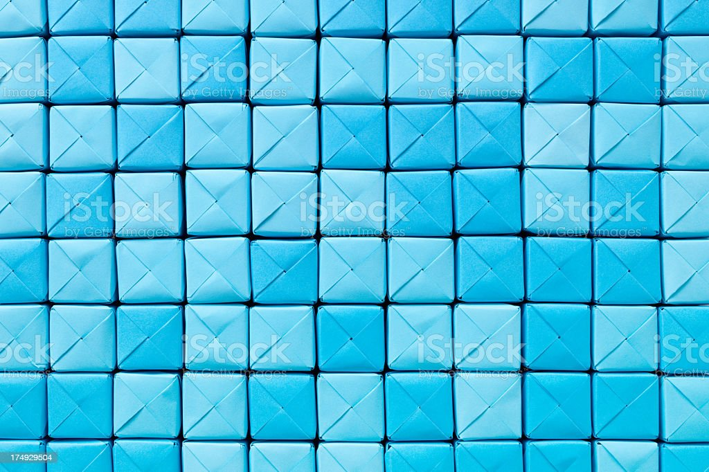 Blue paper cubes background royalty-free stock photo