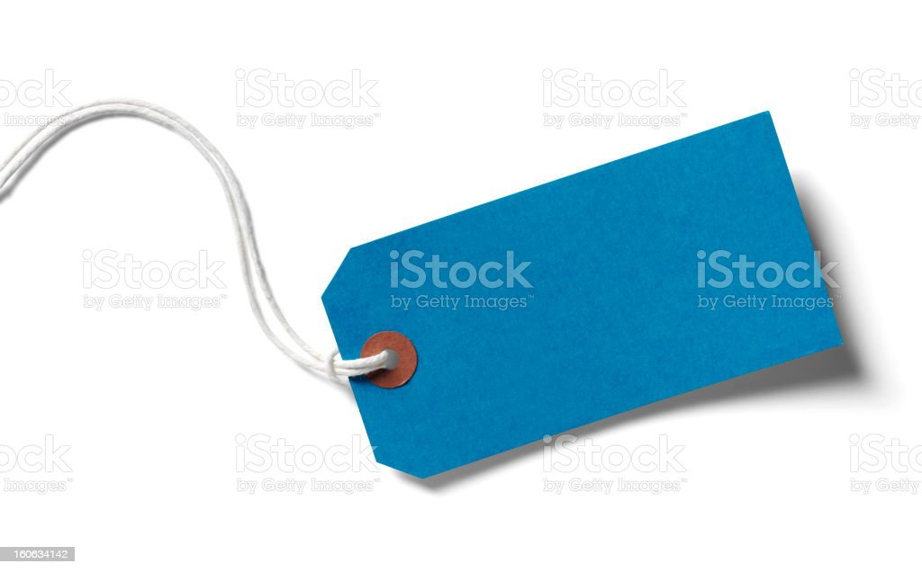 Blue Paper Label royalty-free stock photo