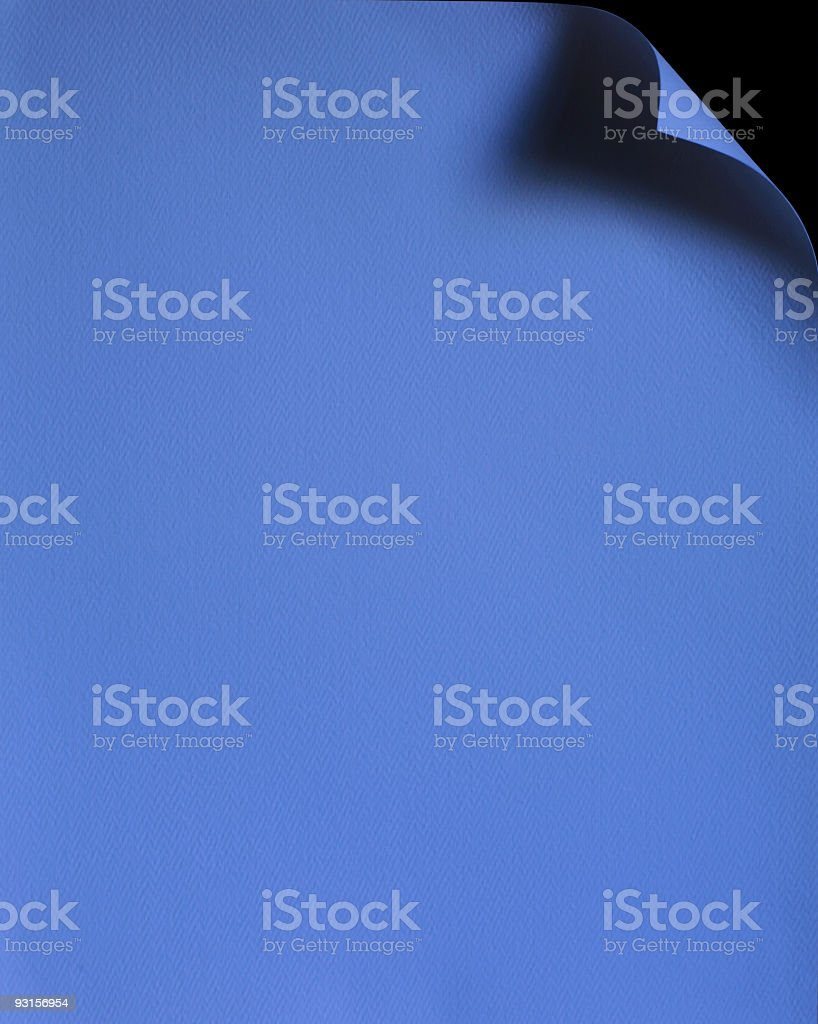 Blue Paper royalty-free stock photo