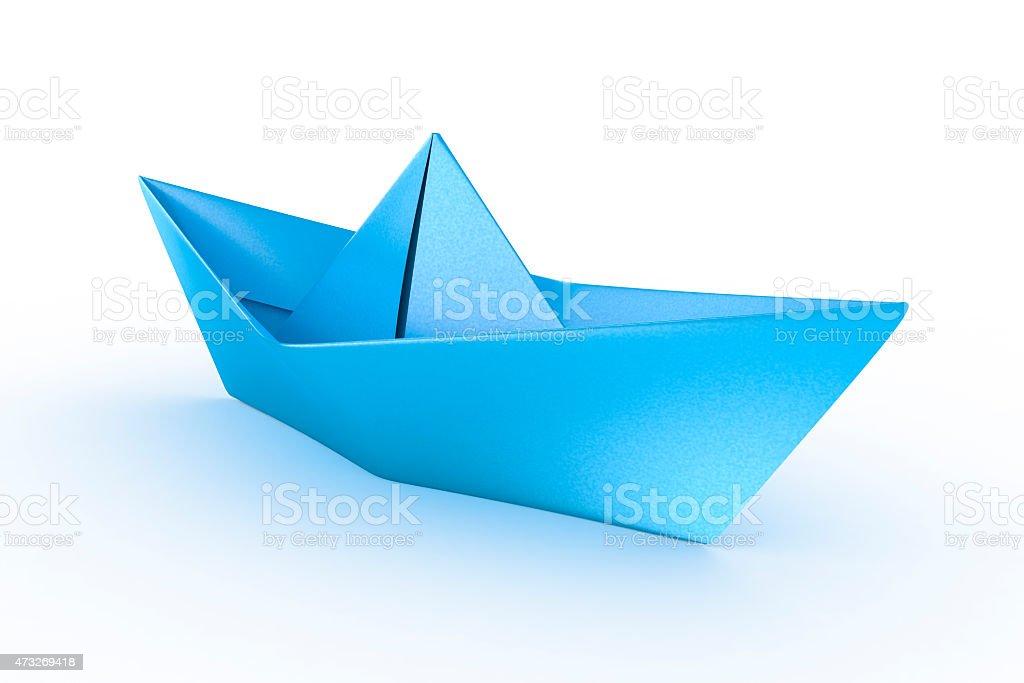 Blue paper ship