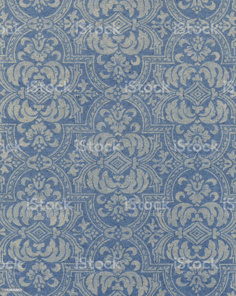 blue paper with floral pattern royalty-free stock photo
