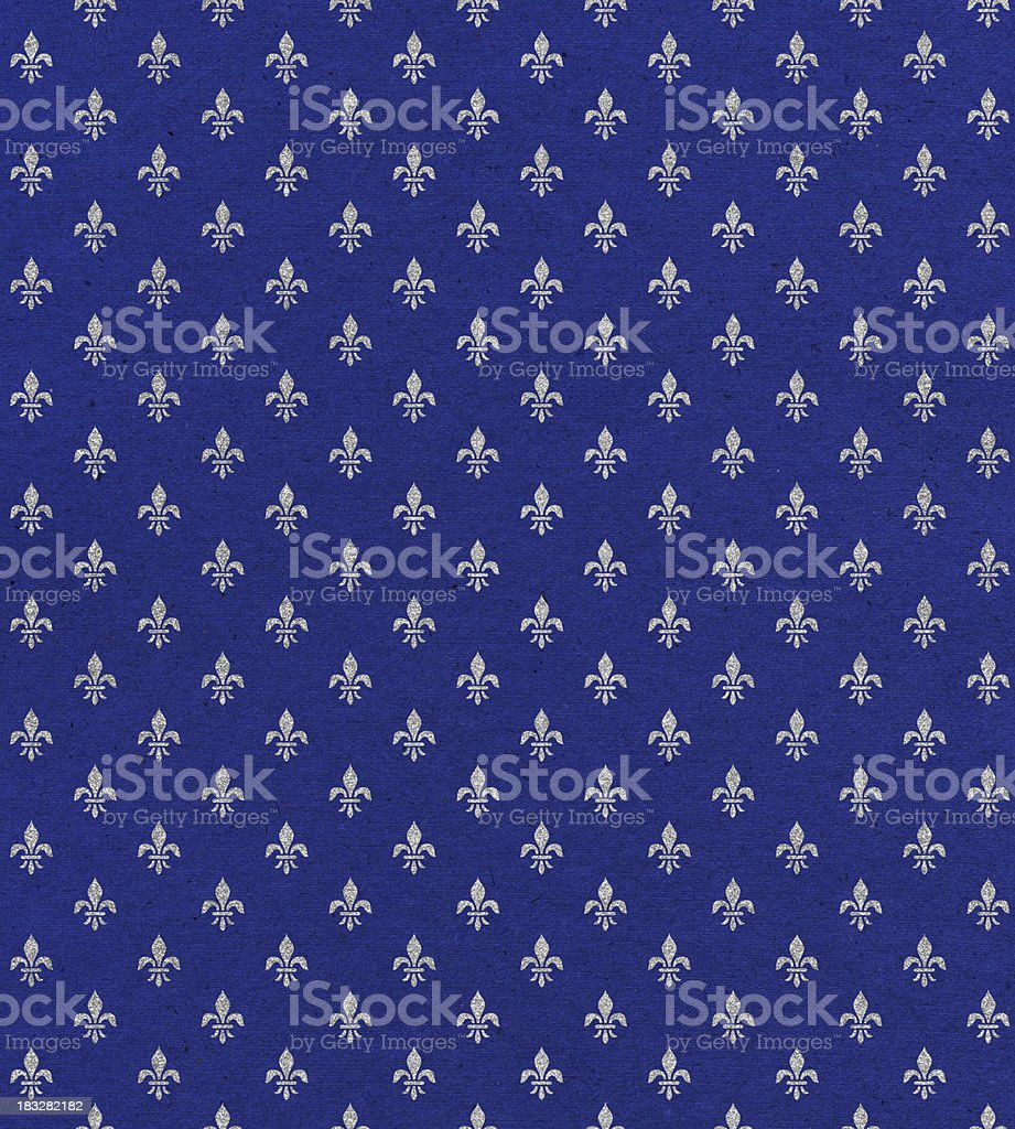 blue paper with symbol stock photo