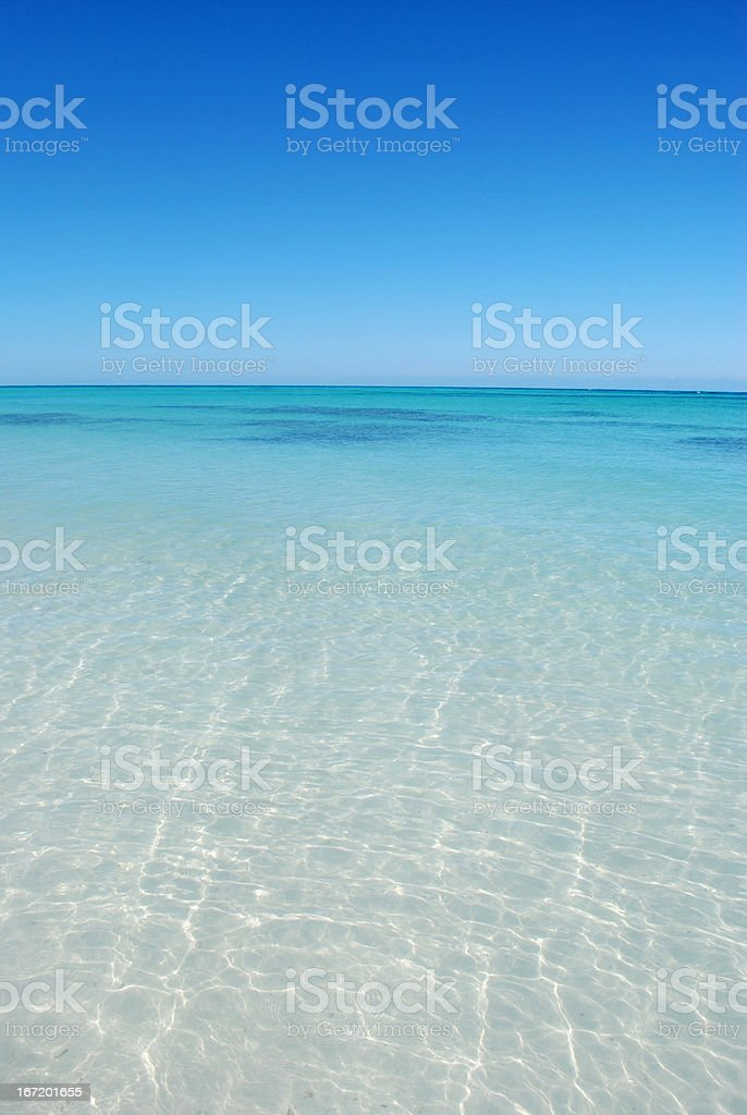 blue paradise, Cayo Jutia, Cuba royalty-free stock photo
