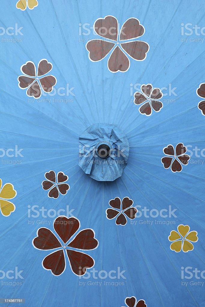 Blue parasol. royalty-free stock photo
