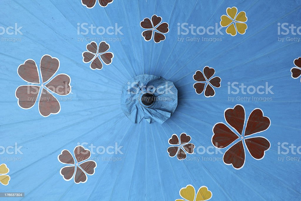 Blue parasol. royalty-free stock photo