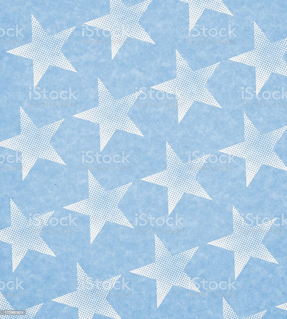 blue parchment with white stars stock photo