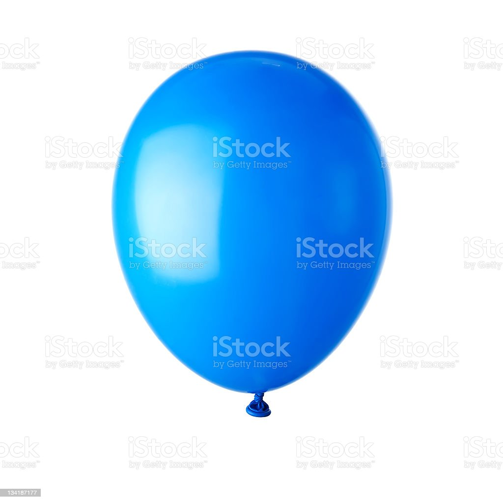 Blue party balloon royalty-free stock photo